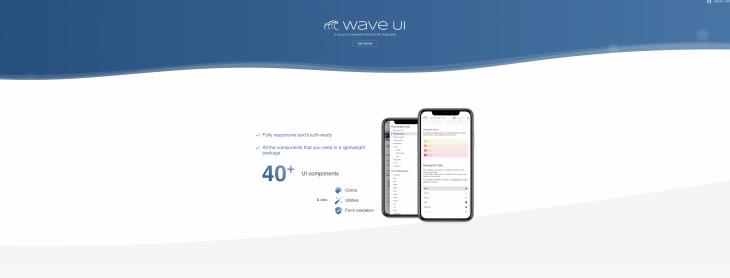 Screenshot of WaveUI