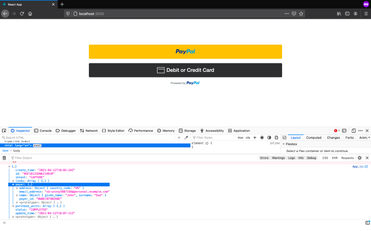 Callback From Payment Page