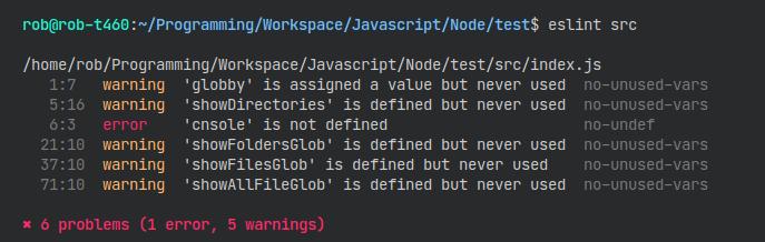 Running ESLint in code