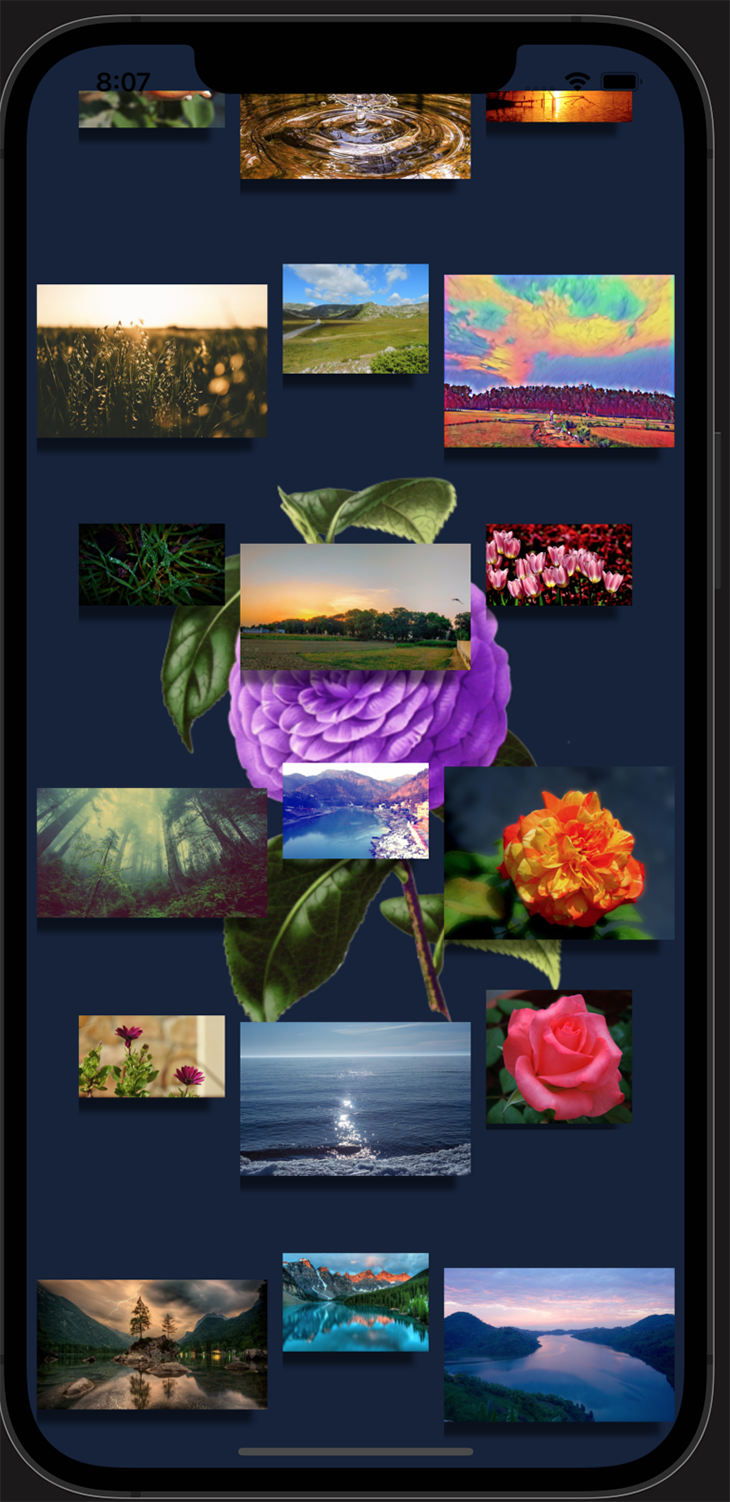 Final result of our React Native Image component demo