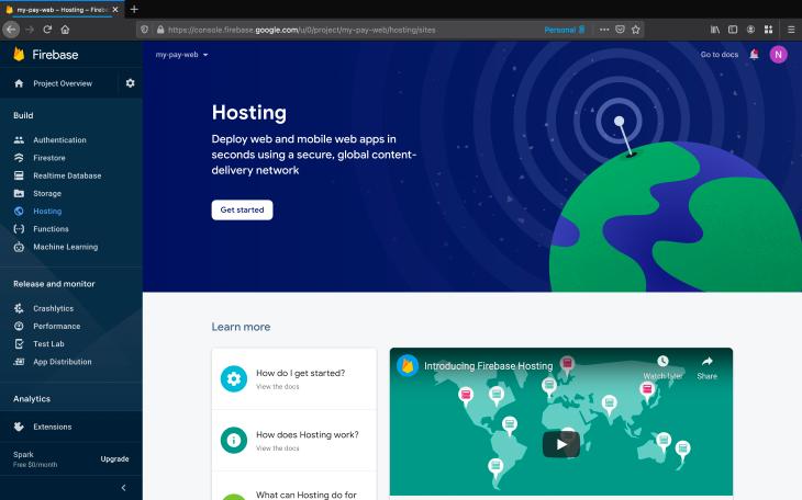 Firebase Hosting Get Started