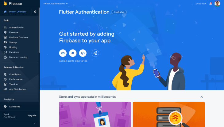 Flutter Authentication Page