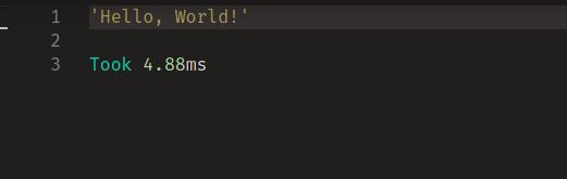 Hello World Result