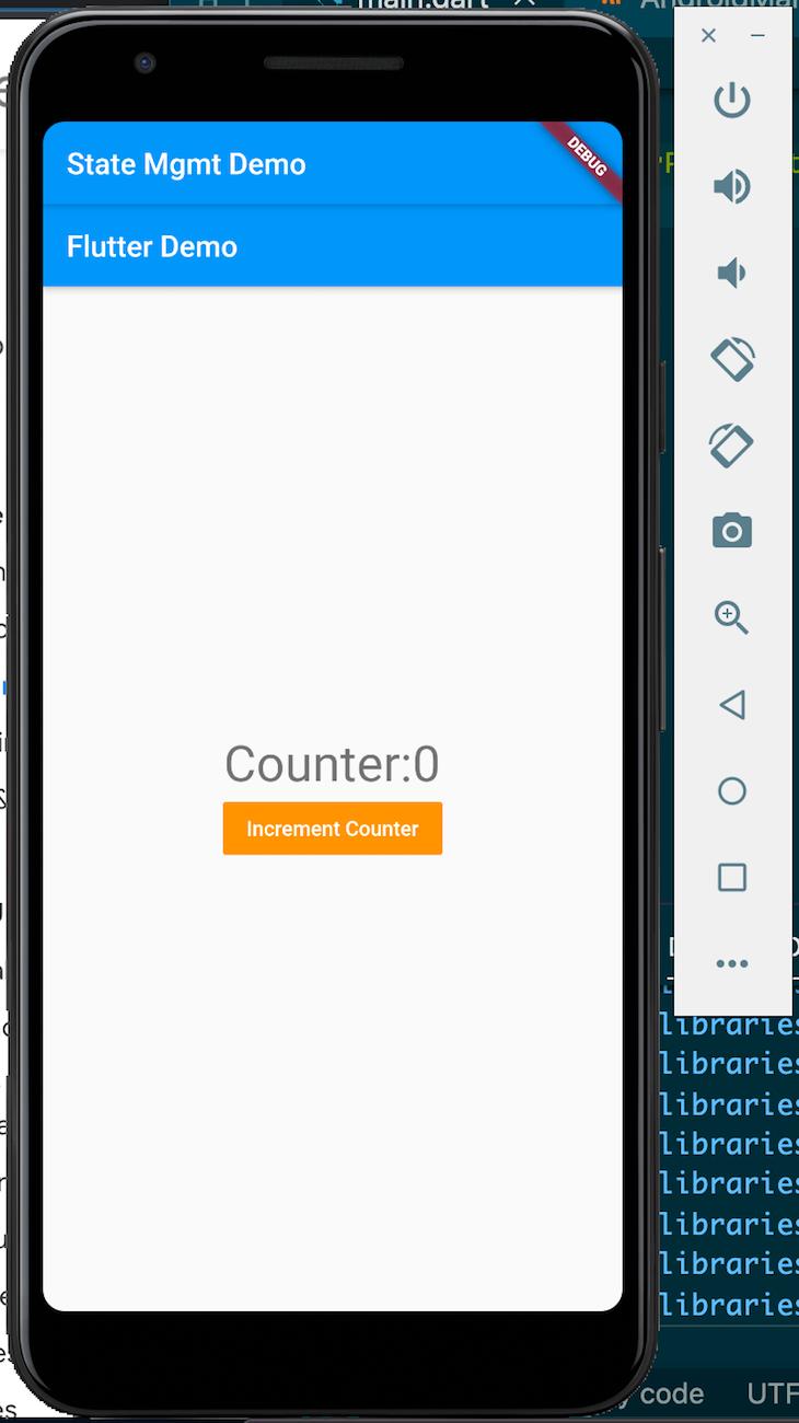 Launch Flutter App Emulator