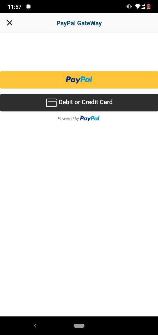 Payment Page Paypal App