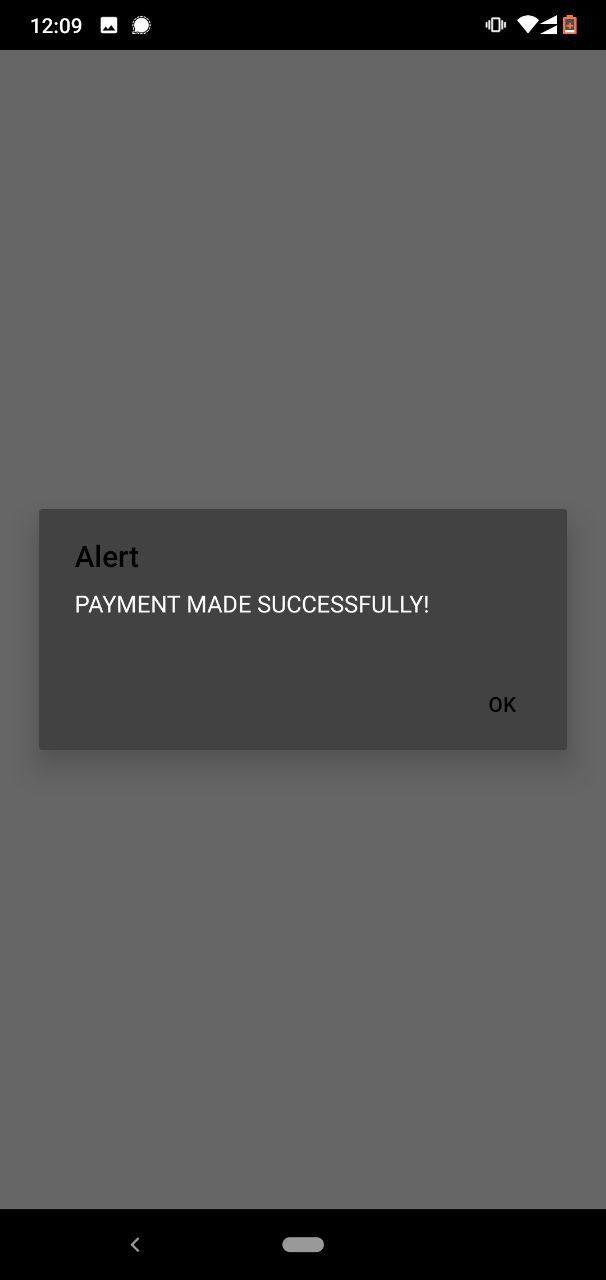 Payment Success Alert
