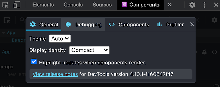 Enabling React DevTools Option to Highlight Re-renders