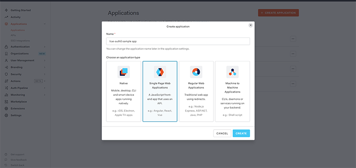 Click on single-page web applications