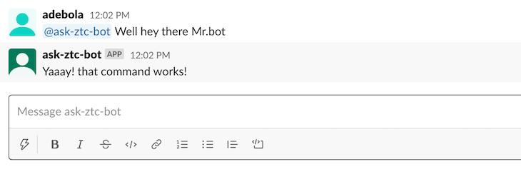 String Message Bot Response