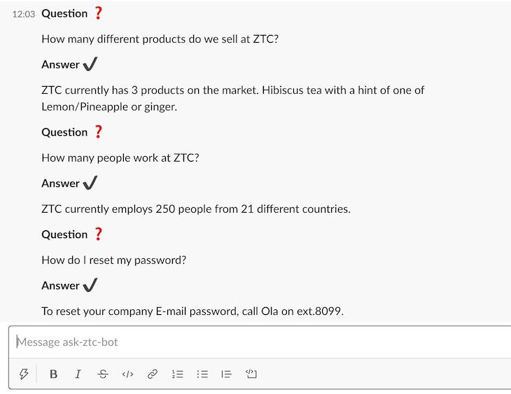 Test Command Bot Conversation