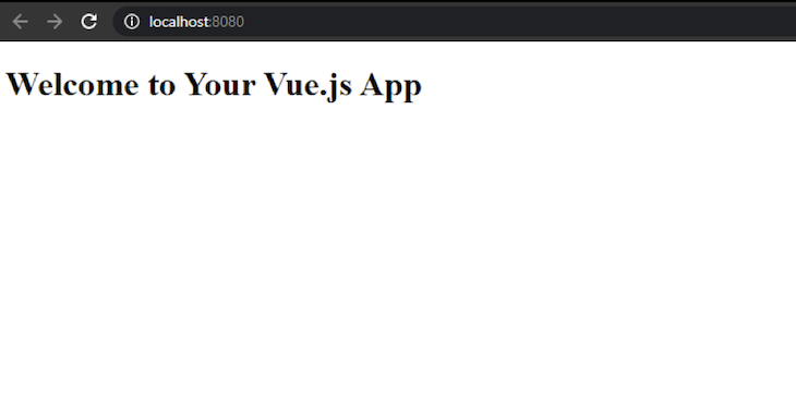 Vue App Output In Browser