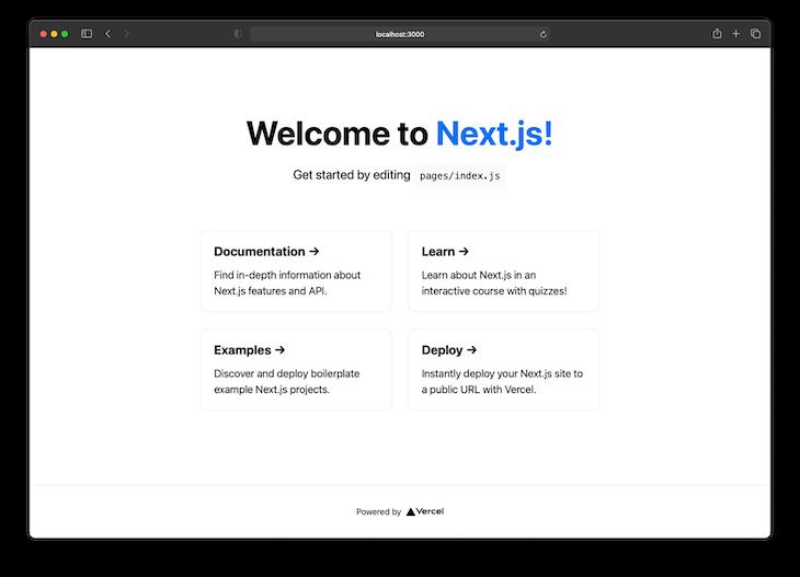 Default Next.js App running On http://localhost:3000