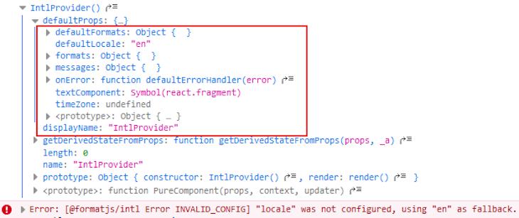 Default Configuration Props