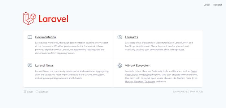 Laravel Register Page