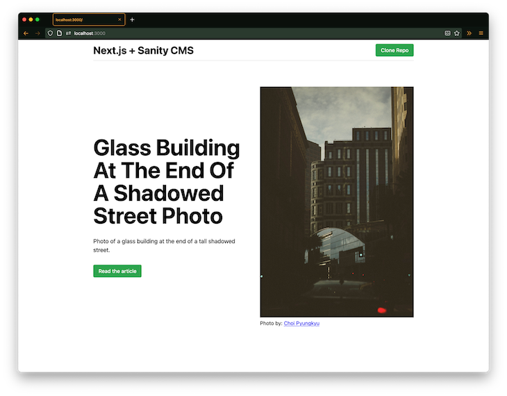 Next.js And Sanity CMS Final Project Page