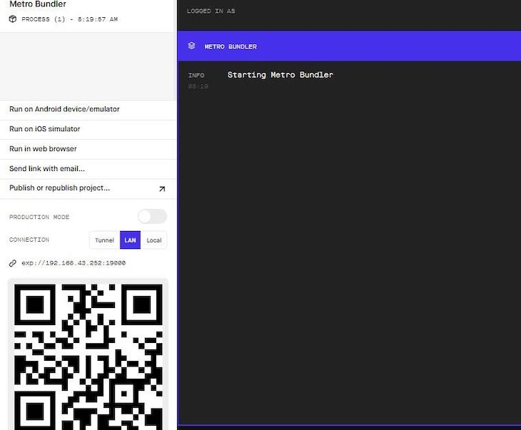 Open Metro Browser And Scan The QR code