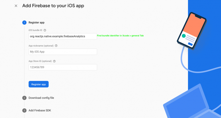 Register The App Page