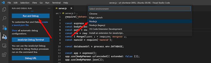 Select Node.js Environment