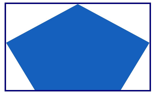 Blue Pentagon In Rectangle With White Padding