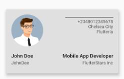 Building a card widget in Flutter