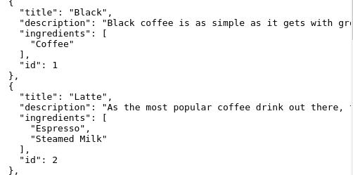 Coffee API Using REST