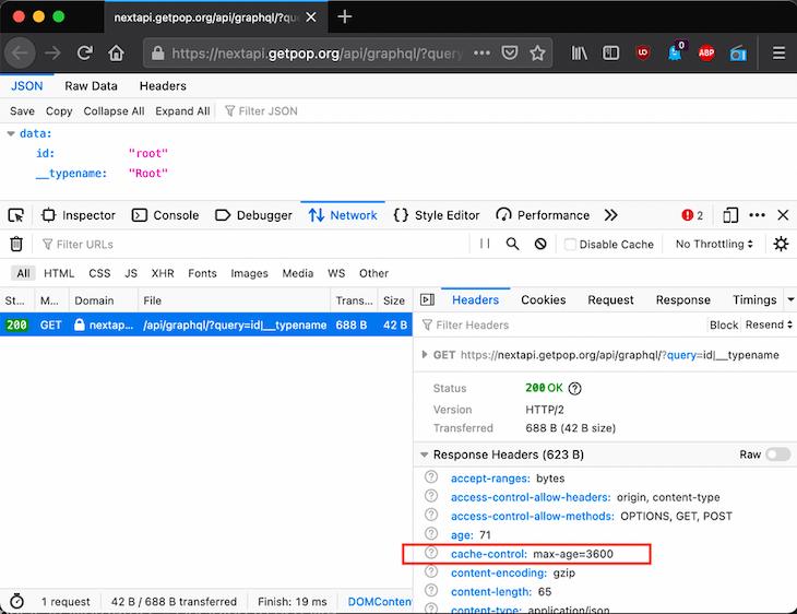 DevTool Website Inspecting HTTP Caching For GraphQL
