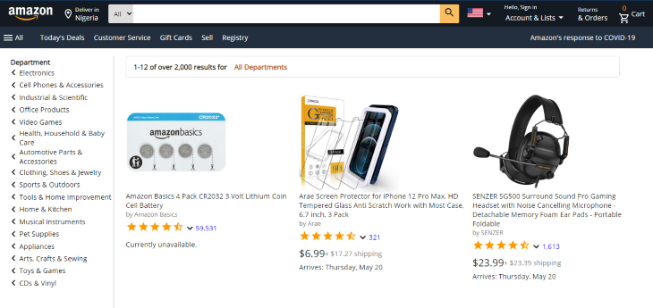 Final Ecommerce Page