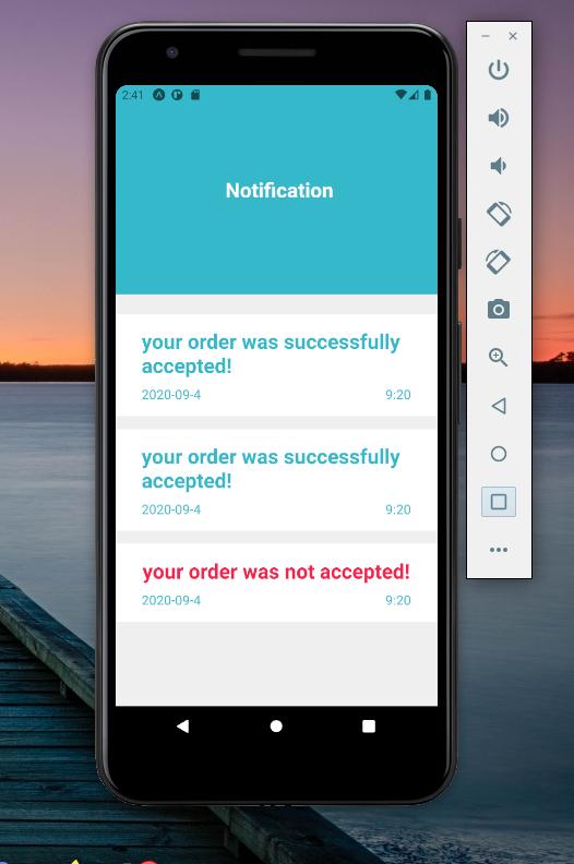 Final React Native App Display