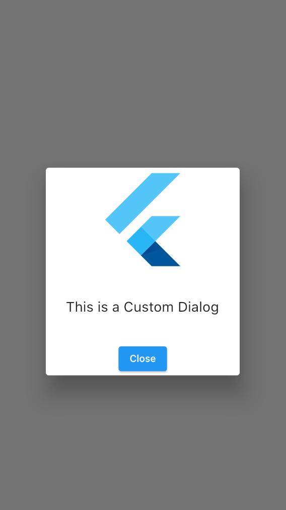 Flutter Custom Dialog