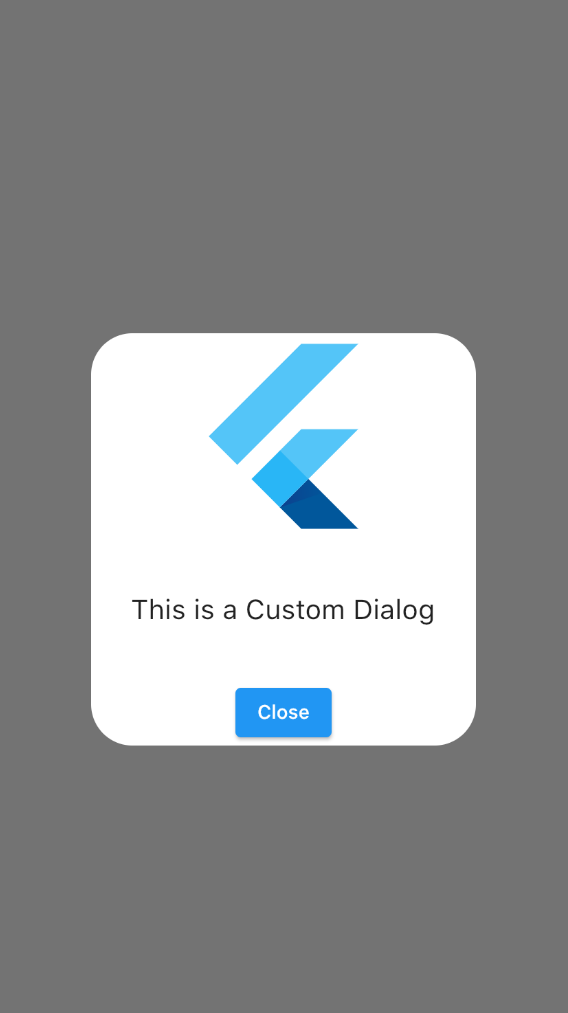 Flutter Dialog with No Shadow
