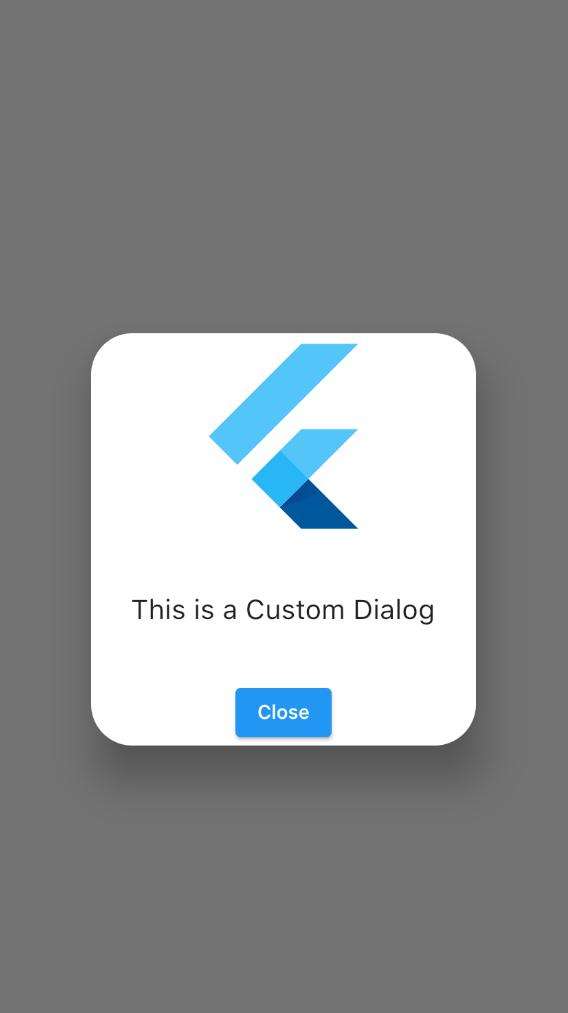 Flutter Rounded Corner Custom Dialog