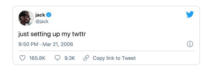 Jack Dorsey İlk Tweet NFT