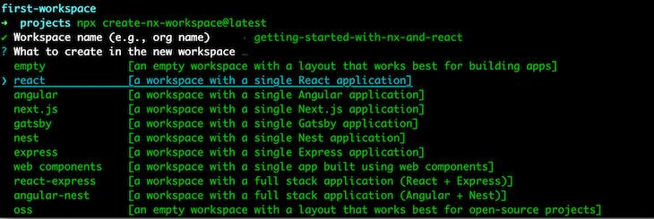 Nx Cli Runs Container Monorepo