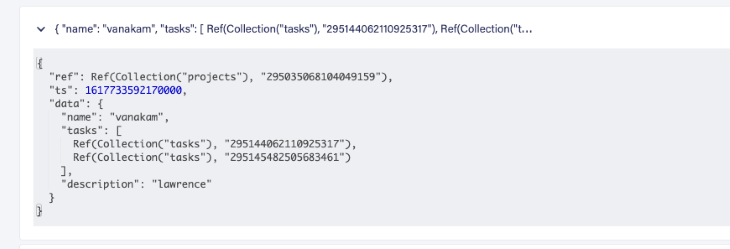 Project Collection Array