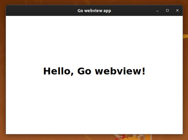 A simple desktop app built using Go webview