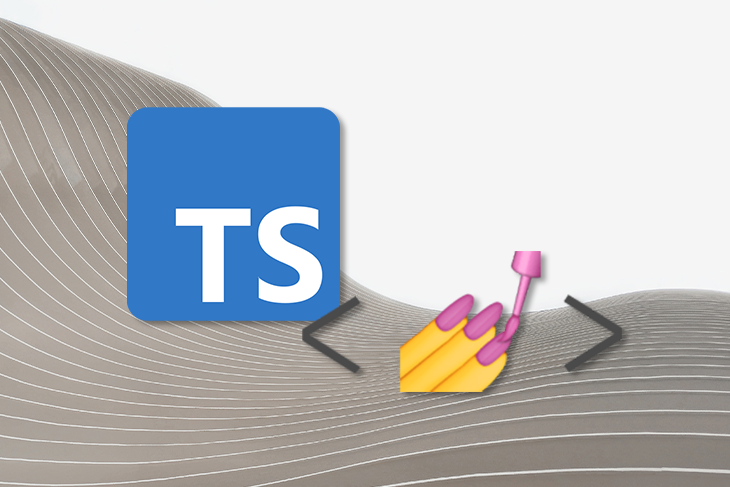 Typescript Logo Next to Painting-Nails Emoji