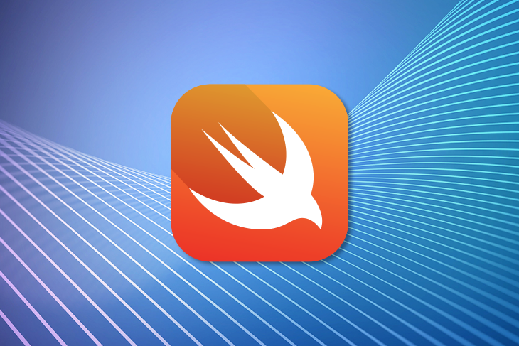Swift Logo Over a Blue Background
