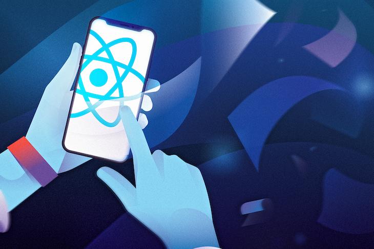 React Native Logo on a Smartphone