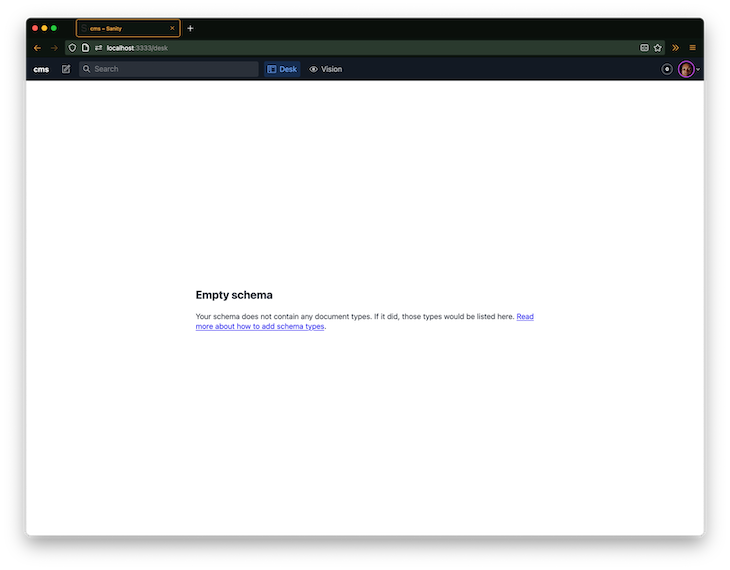 Visiting the Next.js app page