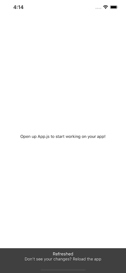 Open The App Main Screen