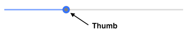 A Slider With A Thumb Node With Arrow Pointing To The Thumb