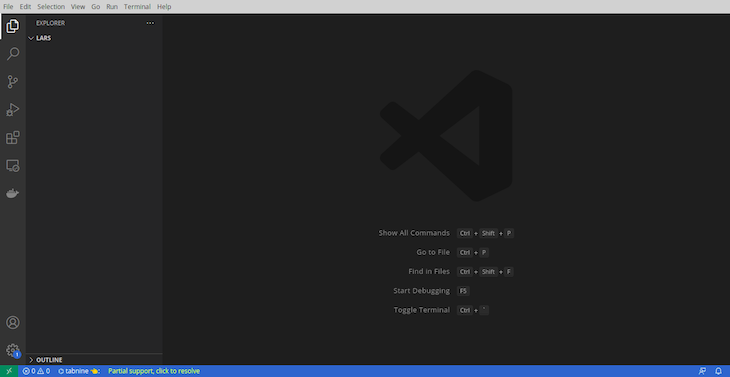 VS Code Window Open