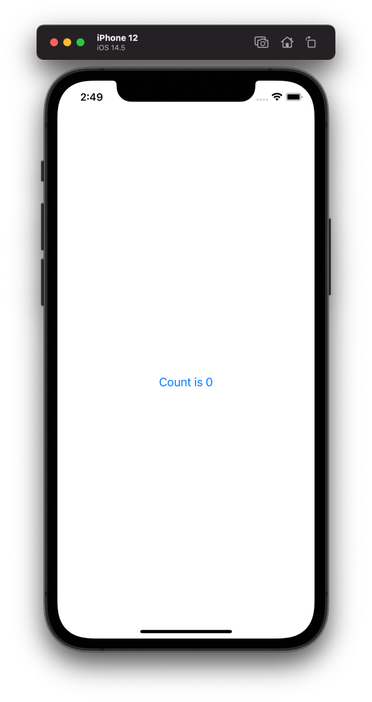 Count Is 0 Screen