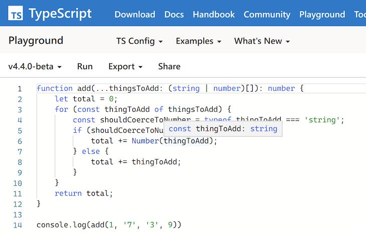 No Error in TypeScript 4.4