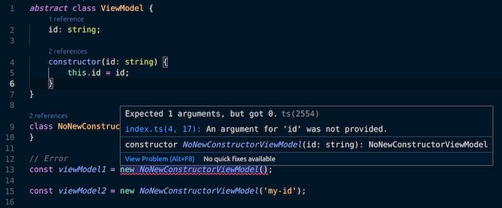 Error TS2554: Expected 1 Arguments But Got 0 Error in VS Code