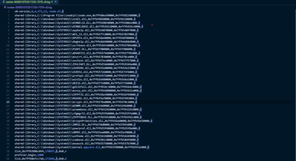 Fastify API Log File