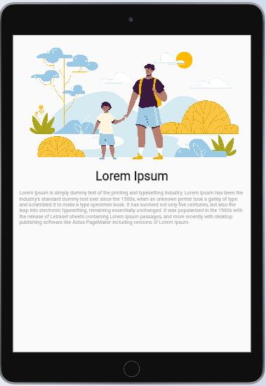 Flutter Responsive Design Tablet Before