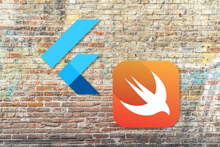 Flutter vs Swift Logos