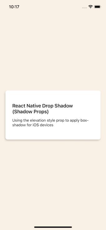 iOS Card Renders With A Shadow Box Underneath