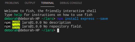 Install Expressjs Dependency